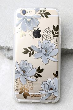 The Sonix Magnolia Clear and Gold Floral Print iPhone 6 and 6s Case is dedicated to the one you love - your iPhone!