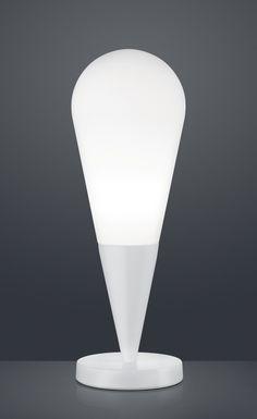 TOULON Trio - stolné svietidlo - biely kov+sklo - 490mm