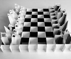 Pop-up Paper Chess Set - pinning just because this is awesome. Folds flat with all the pieces in place.
