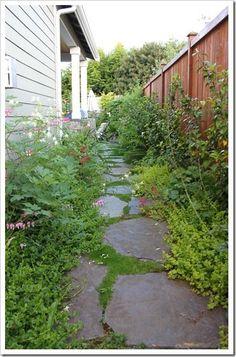side on brick pavers path - Google Search