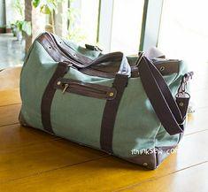 Charles Men's Duffle Bag PDF Pattern - New Release Sale! �0Off! Diy Duffle Bag, Canvas Duffle Bag, Leather Duffle Bag, Duffle Bag Patterns, Handbag Patterns, Fabric Bags, Sew Bags, Tote Bags, Men's Bags