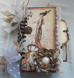 "Creative Cafe': A Vintage ""Ladies' Diary"" Mini Album"