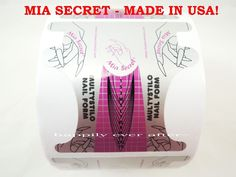 200 PCs Mia Secret Nail Form for Professional Nail System *MADE IN USA*   eBay