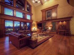 Luxury Custom Living Rooms by Timber Ridge Properties + Stickley Furniture