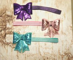 Bows on headbands