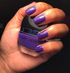 Ultra Violet nail inspiration from luvpeacepolish. #Sephora #TheBeautyBoard #MarcJacobsBeauty