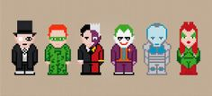 Batman's Enemies Cross Stitch PDF Pattern Download. $4.00, via Etsy.