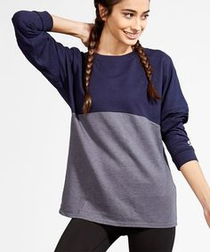 dd8c484d6dc0 Loving this Navy  amp  Gray Heather Dolman Pullover on  zulily!  zulilyfinds  Pullover