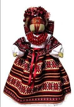 Ukrainian doll--they make similar dolls in Lithuania, but without the woven-cross-face (in my experience) Viking S, Ukrainian Art, Matryoshka Doll, Russian Folk, Felt Dolls, Handmade Toys, Creations, Costumes, Embroidery
