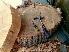 These Tables I Made From Large Tree Slices Make Me Happy! - I've seen many tree stump tables around the web waves and I've always wanted to make one. It just ta…