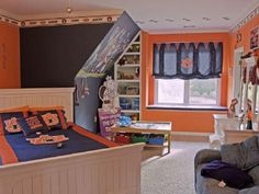 Awesome Auburn themed bedroom!     For Great Sports Stories and Audio Podcasts Visit our Blog at www.RollTideWarEagle.com