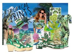 """""""Tropical Prints"""" by magika890 ❤ liked on Polyvore featuring art and tropicalprints"""
