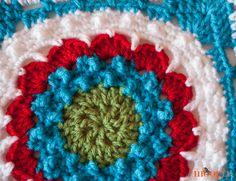 Mane Square afgana de León - la primera plaza de marzo en el 2,014 Moogly afgana Crochet-a-Long!