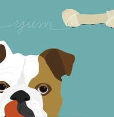 Peek-A-Boo: English Bulldog Art Print at AllPosters.com