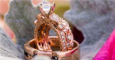 Feminine Rose gold Big Wedding Rings, Wedding Rings Rose Gold, Rose Gold Jewelry, Bridal Rings, Wedding Ring Bands, Wedding Jewelry, Gold Wedding, Gold Jewellery, Popular Engagement Rings