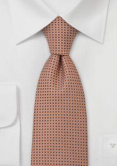 Coral Orange Silk Tie
