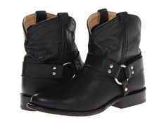 Frye Wyatt Harness Short Black Antique Pull Up - Zappos.com Free Shipping BOTH Ways