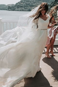 modest wedding dress with cap sleeves from alta moda. -- (modest bridal gown) photo by @maddyshoots