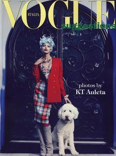 VOGUE ITALIA SUGGESTIONS  AUGUST, 2012 COVER WITH MODEL-JASMINE TOOKES