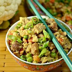 """Cauliflower Fried 'Rice' 