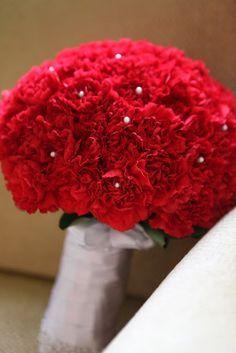 Red Carnation bouquet #ACHIO
