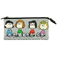 Snoopy Peanuts PNVI0692 - Estuche de tejido para lápices, multicolor