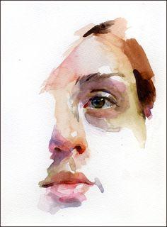 Stan Miller Watercolor Portrait More