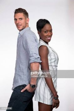 World bronze medalists, 2017 European bronze medalists and five-time French national champions, France's ice figure skating dancers Vanessa James and Morgan Cipres pose during a photo session in. Mixed Couples, Cute Couples, Vanessa James Morgan Cipres, Love On Ice, Wmbw, Bwwm, Interracial Couples, Serena Williams, Love Couple
