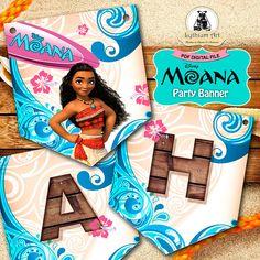 Moana Banner - Young Moana Banner - Moana Printable Banner - Moana Party Supplies - Princess Moana - Moana Birthday Party - Moana Garland