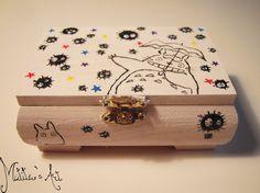 Studio Ghibli - Totoro box - Hayao Miyazaki - hand painted by Matita's Art.