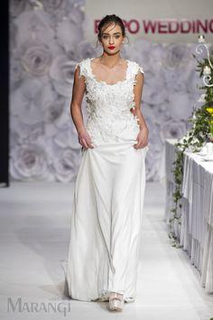 f191512f01d2 Νυφικό Γραμμή A – 1051 Νυφικό φόρεμα αέρινο υψηλής ραπτικής από μπούστο  κεντημένο με ανάγλυφα λουλούδια 3D στο χέρι και ανάλαφρη φούστα από  μεταξωτές ...