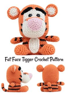 Love this adorable amigurumi tigger pattern! Super great find by #craftevangelist #crochet #pattern