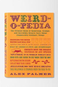 Weird-O-Pedia By Alex Palmer  #UrbanOutfitters