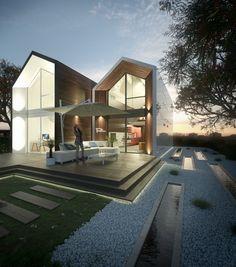 risultati immagini per ville moderne design | idee per la casa, Innenarchitektur ideen