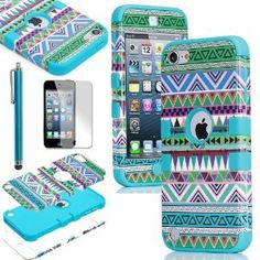 Tribal print case for ipod 5! It even has the hole on the bottom for the loop. I like this color best (: