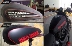 #Pintura #Personalizada capa de tanque #HarleyDavidson #Sportster1200, realizada aqui na ODT_BH.