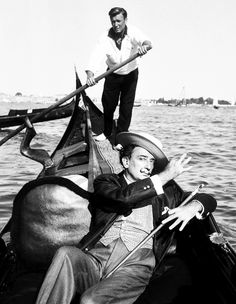 Salvador Dali in Venice, 1961.