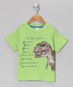 Take a look at this Lime T-Rex To-Do List Tee - Infant, Toddler & Boys by Blow-Out on @zulily today!