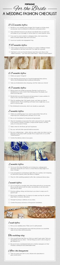 Download the Ultimate Wedding Fashion Checklist - Bridal Style