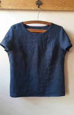 Merchant & Mills Camber top in 'goodnight' laundered linen - By The Crafty Baker