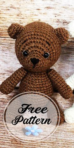 Also, You can make Awesome crochet bear amigurumi! You can make your own teddy bear with this free amigurumi tutorial. To make this bear you need YarnArt Jeans yarn and mm crochet hook. The height of finished crochet toy is about 12 cm Materia Tutorial Amigurumi, Amigurumi Free, Crochet Amigurumi, Crochet Bear, Amigurumi Patterns, Amigurumi Doll, Crochet Animals, Crochet Dolls, Free Crochet