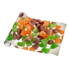 #Colourful gum #candy sprinkled with sugar gift wrap paper by #PLdesign #SugarCandy