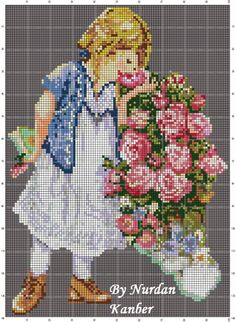 Gallery.ru / Старинные девушка - Мой Вышивка крестом Дизайн - nurdankanber