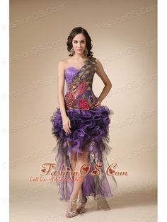 Purple Column One Shoulder High-low Evening Dress Satin and Organza Appliques- $165.89  http://www.fashionos.com   | elegant prom graduation dress | junior prom party dress | custom made prom formal dress | 2013 popular prom dress for formal evening | sexy prom evening dress | cheap prom dress under 150 | cheap prom cocktail dress | lovely 2013 prom dress |