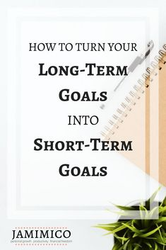 All long-term goals are accomplished one day/week/month at a time. That's where short-term goals come in and why they're so important. In this post, I'll share with you the steps that I use to turn my long-term goals into short-term goals. Short Term Goals, Term Life, Goal Planning, College Planning, Goal Quotes, Thing 1, Business Goals, Business Tips, Self Improvement Tips