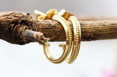 Solid Gold Hoops Gold Hoop Earrings Open Gold Hoops Stud | Etsy Gold Hoop Earrings, Ruby Earrings, Unique Earrings, Bridal Earrings, Boho Earrings, Boho Wedding Ring, Solid Gold, Or Rose, Rose Gold