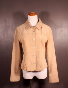 """""""Live a Little"""" leather jacket, ladies' size M, available at our eBay store! $35"""