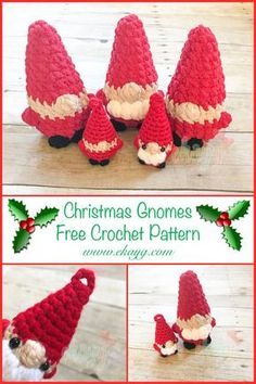 The Christmas Gnome - free crochet pattern at ekayg.