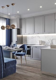 Luxury Kitchens 63 Best Luxury Kitchen Design Will Inspire You, luxury kitchen area layouts that are appropriate for your home with a size and design that is elegant and easy. Luxury Kitchen Design, Best Kitchen Designs, Luxury Kitchens, Interior Design Kitchen, Home Decor Kitchen, Modern Interior Design, Kitchen Ideas, Kitchen Modern, Kitchen Grey