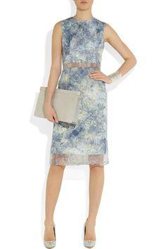 Erdem|Helena printed silk-organza dress|NET-A-PORTER.COM